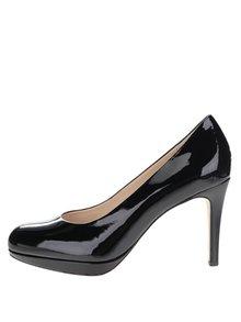 Pantofi negri din piele lăcuită Högl cu platformă și toc cui