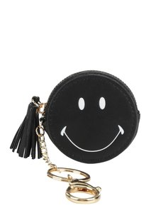 Čierna guľatá peňaženka so smajlíkom TALLY WEiJL
