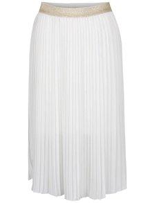 Krémová plisovaná sukňa TALLY WEiJL