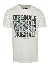 Krémové triko s potiskem Jack & Jones Letter