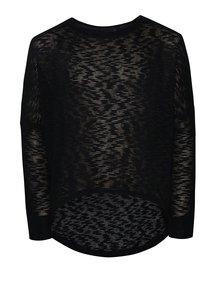 Bluză bleumarin din jerseu subțire pentru fete name it Rimilla cu tiv asimetric