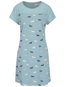 Modré šaty s potiskem jezevčíků Brakeburn