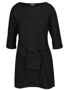 Čierna tunika s viazankou a vreckami ZOOT