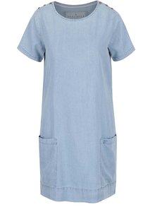 Svetlomodré rifľové šaty s krátkym rukávom Brakeburn