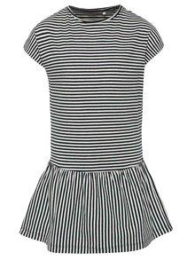 Tmavomodré dievčenské pruhované šaty name it Inger