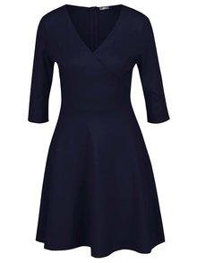 Tmavě modré šaty s překládaným výstřihem ZOOT