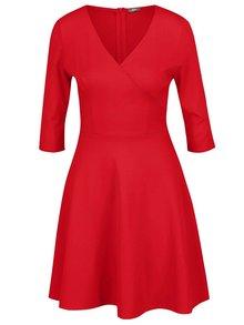 Červené šaty s prekladaným výstihom ZOOT