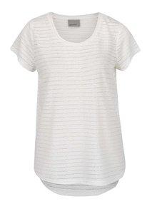 Biele perforované tričko Vero Moda Kaya