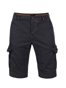 Pantaloni scurți albastru închis Superdry din bumbac