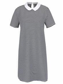 Modro-bílé volné pruhované šaty s límečkem VERO MODA Kay