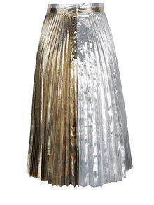 Plisovaná sukně ve stříbrno-zlaté barvě Idol Ray