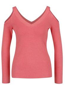 Ružový sveter s prestrihmi na ramenách Dorothy Perkins