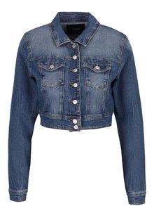 Jachetă crop albastră din denim ONLY New