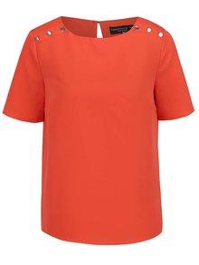 Oranžová blúzka s detailmi na ramenách Dorothy Perkins