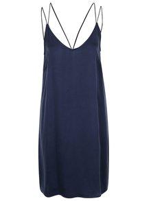 Tmavě modré volné šaty s tenkými ramínky VILA Allie