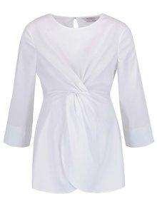 Bluză albă Dorothy Perkins Maternity cu nod decorativ