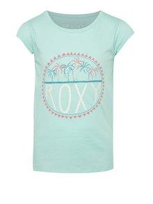 Zelené holčičí tričko s potiskem Roxy