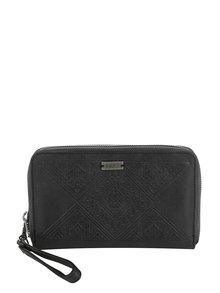 Čierna peňaženka na zips s jemným vzorom Roxy Won