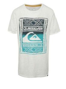 Krémové chlapčenské tričko s krátkym rukávom Quiksilver