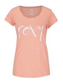 Neonově oranžové tričko s potiskem Roxy Bobby