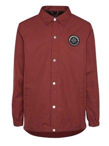 Jachetă vișinie Horsefeathers Harlow cu logo