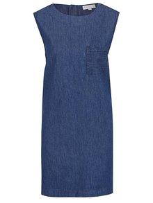 Tmavě modré volné džínové šaty Apricot