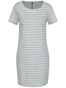 Krémovo-zelené pruhované šaty VILA Tinny