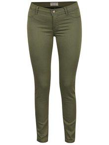 Khaki elastické skinny džíny s nízkým pasem TALLY WEiJL