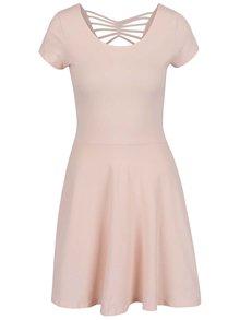 Růžové šaty s kulatým výstřihem TALLY WEiJL