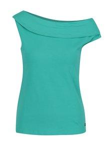 Zelené tričko s lodičkovým výstřihem Skunkfunk