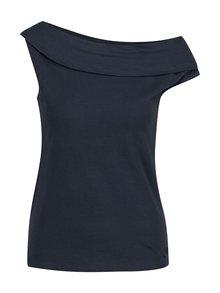 Tmavě modré tričko s lodičkovým výstřihem Skunkfunk