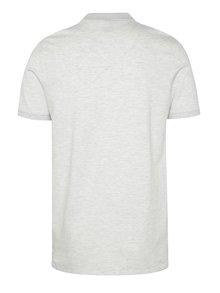 Světle šedé žíhané polo tričko Selected Homme Haro