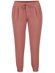 Pantaloni roz piersică TALLY WEiJL cu pliuri