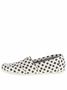 Modro-krémové dámske bodkované loafers TOMS
