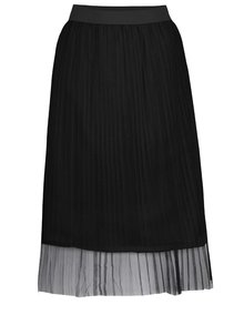 Čierna tylová plisovaná midi sukňa TALLY WEiJL