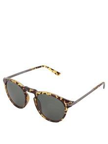 Žlto-hnedé vzorované slnečné okuliare Jack & Jones Leo
