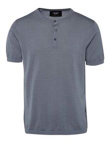 Modré triko s krátkým rukávem Selected Homme AB