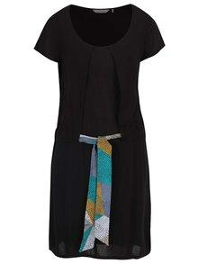 Černé šaty se zavazováním v pase Skunkfunk