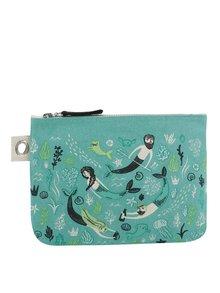 Zelená velká kosmetická taštiška na zip s motivem moře Magpie Sea Spell