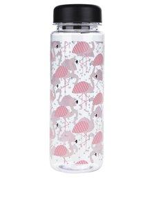 Sticlă transparentă Sass & Belle cu imprimeu flamingo