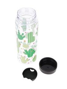 Sticla transparenta Sass & Belle cu imprimeu cactusi 450 ml