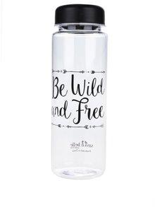 Sticlă transparentă Sass & Belle cu imprimeu text 450 ml