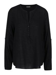 Bluză neagră VERO MODA Fay cu croi lejer