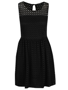 Rochie neagră Haily´s Melly din dantelă