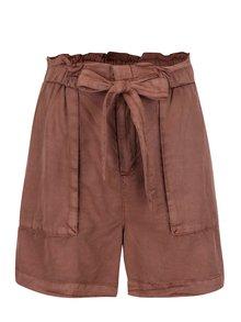 Pantaloni scurți roșii VERO MODA Zoe cu cordon