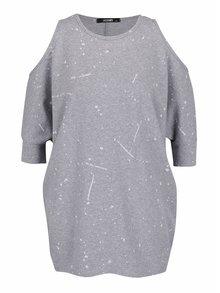 Bluză supradimensionată gri melanj Haily's Conny cu model