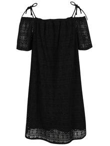 Černé krajkové šaty s odhalenými rameny Noisy May Anna