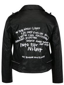 Čierna koženková bunda Haily´s Sonja
