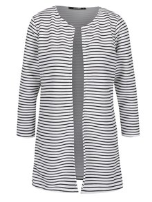 Čierno-biele rebrované pruhované sako Haily´s Sandria