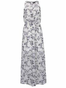 Sivo-biele kvetinové maxišaty s rozparkom Mela London
